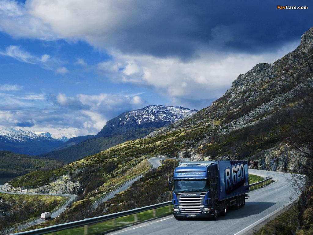 Scania R620 4x2 Topline 2005–09 wallpapers (1024 x 768)