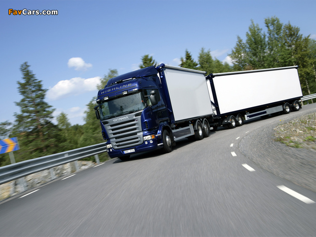 Scania R620 6x2 Highline 2005–09 wallpapers (640 x 480)