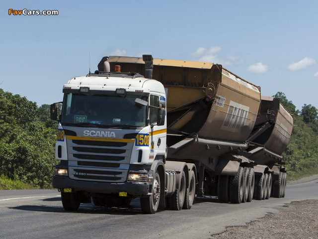 Scania R580 6x4 2005–09 wallpapers (640 x 480)