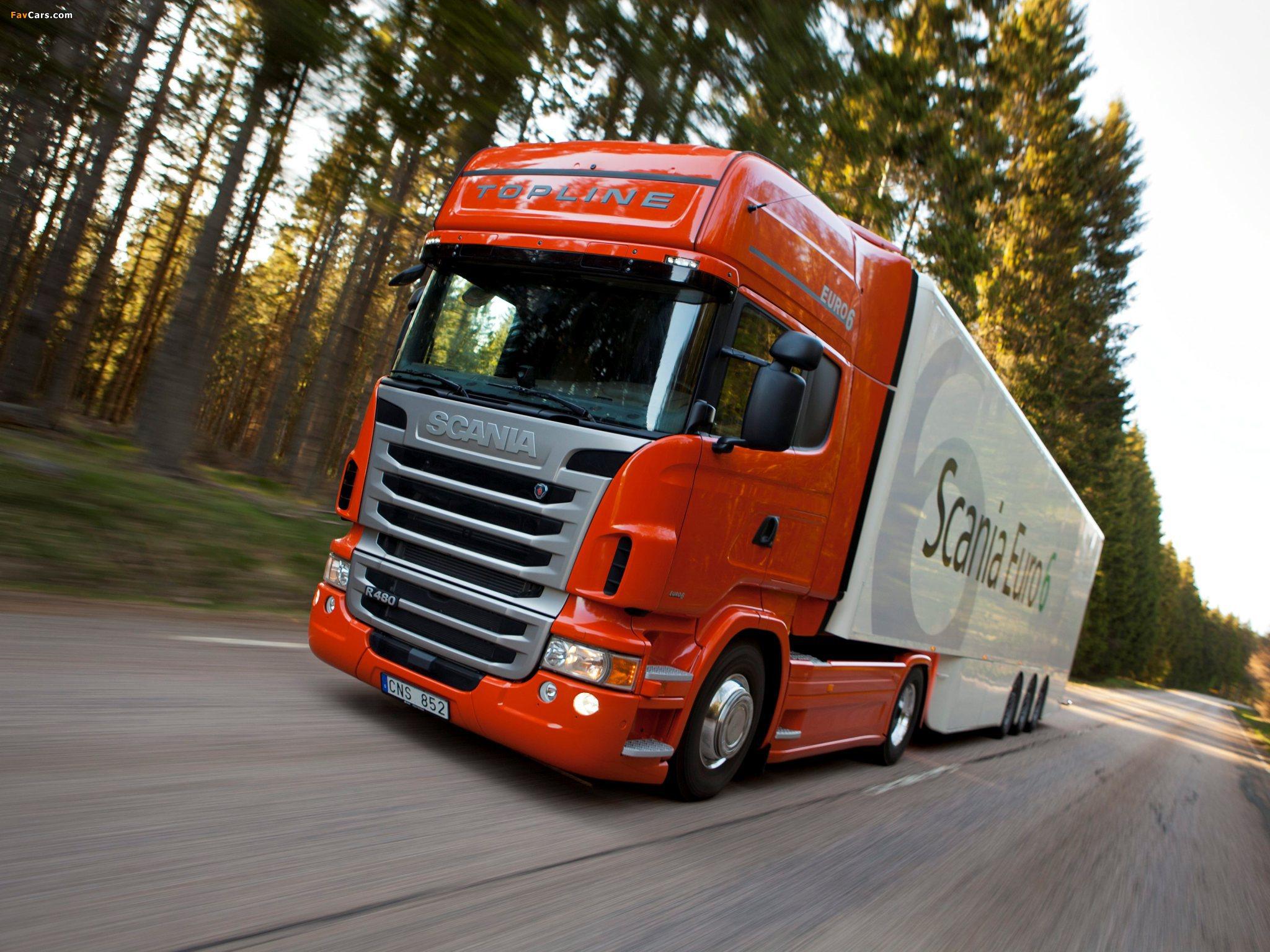 Scania R480 4x2 Topline 2009–13 pictures (2048 x 1536)
