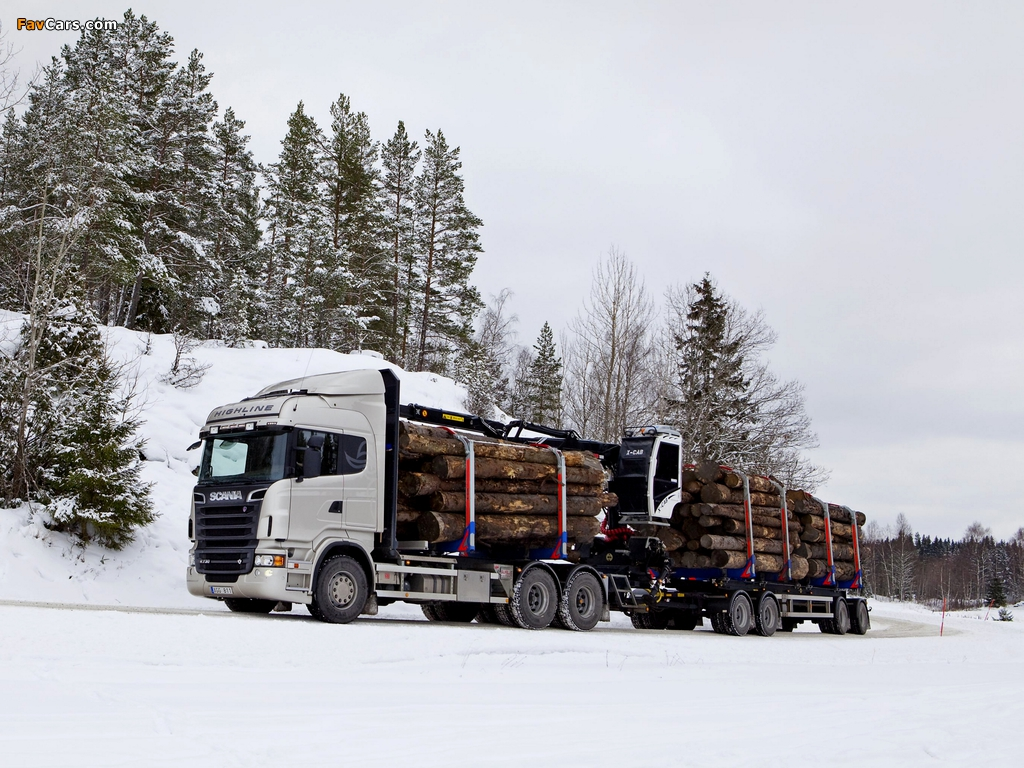 Scania R730 6x4 Highline Timber Truck 2010–13 wallpapers (1024 x 768)