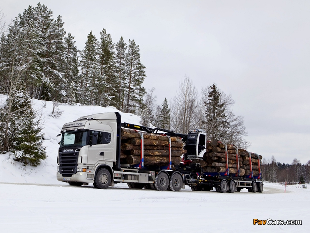 Scania R730 6x4 Highline Timber Truck 2010–13 wallpapers (640 x 480)