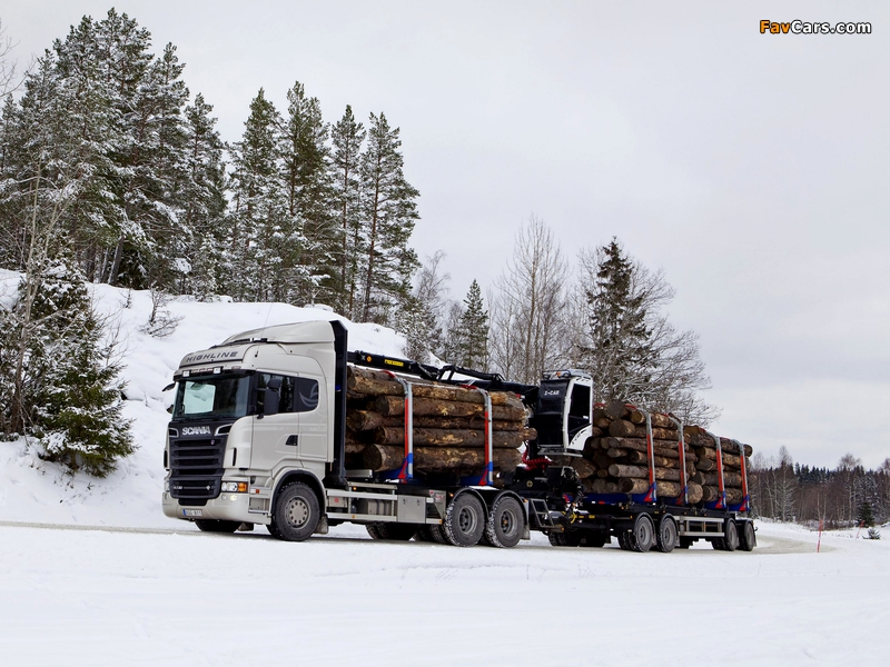 Scania R730 6x4 Highline Timber Truck 2010–13 wallpapers (800 x 600)
