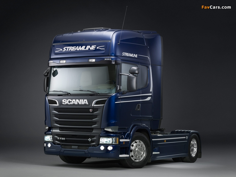 Scania R730 4x2 Streamline Topline Cab 2013 wallpapers (800 x 600)