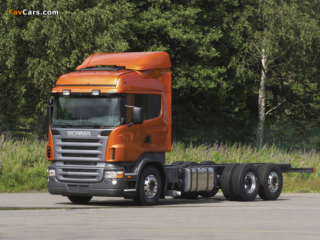 Scania R470 6x2 Highline 2004–09 wallpapers (640 x 480)
