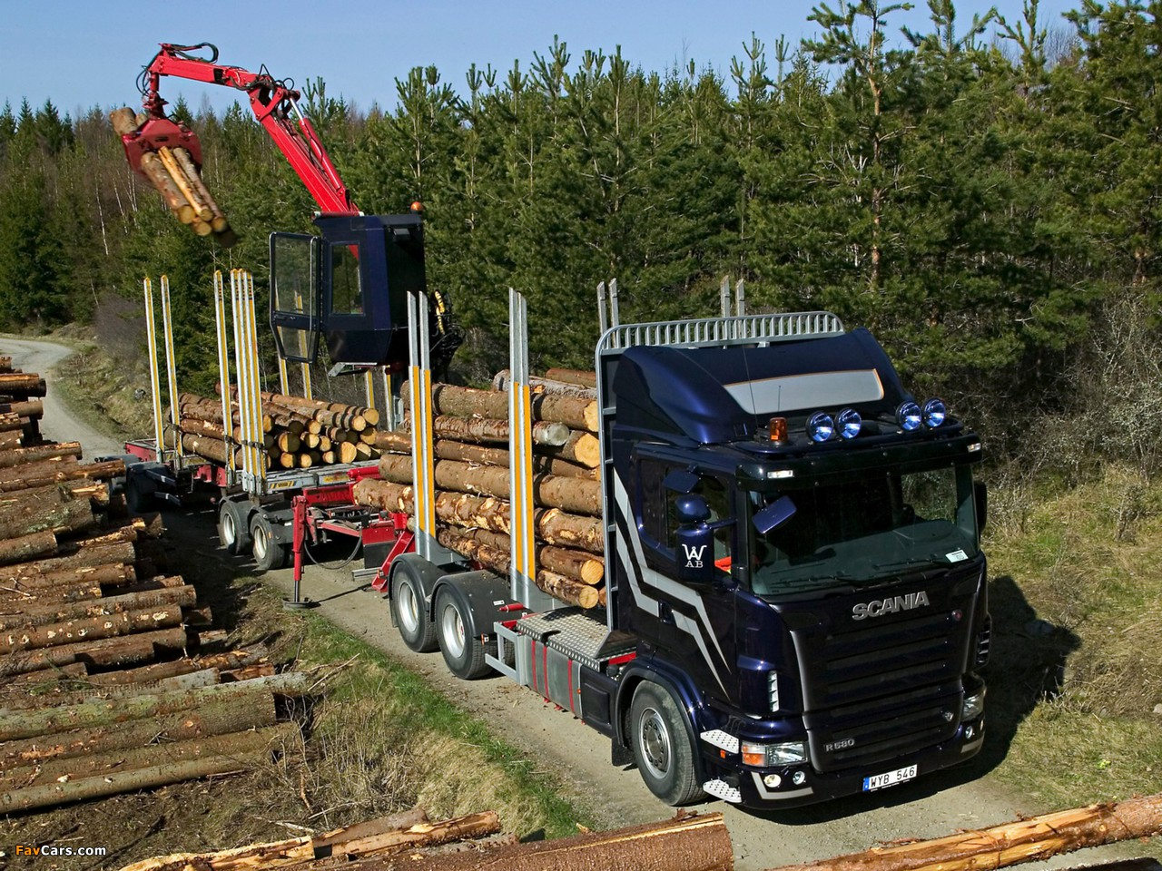 Scania R580 6x4 Timber Truck 2004–09 wallpapers (1280 x 960)