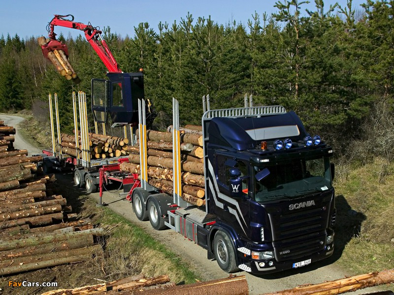 Scania R580 6x4 Timber Truck 2004–09 wallpapers (800 x 600)