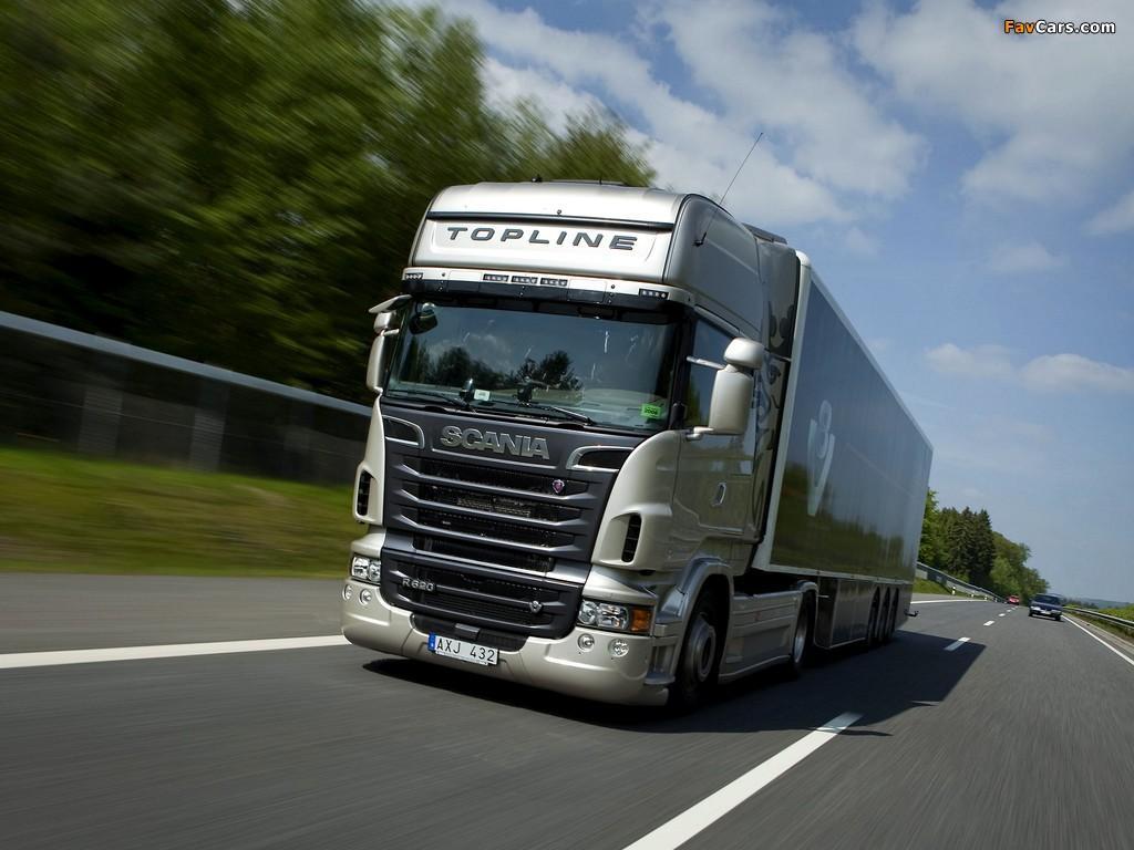 Scania R620 4x2 Topline 2009–13 wallpapers (1024 x 768)