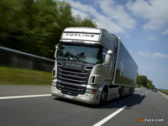 Scania R620 4x2 Topline 2009–13 wallpapers (640 x 480)
