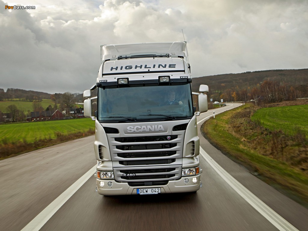 Scania R480 4x2 Highline 2009–13 wallpapers (1024 x 768)