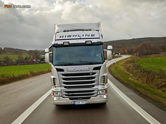Scania R480 4x2 Highline 2009–13 wallpapers (640 x 480)