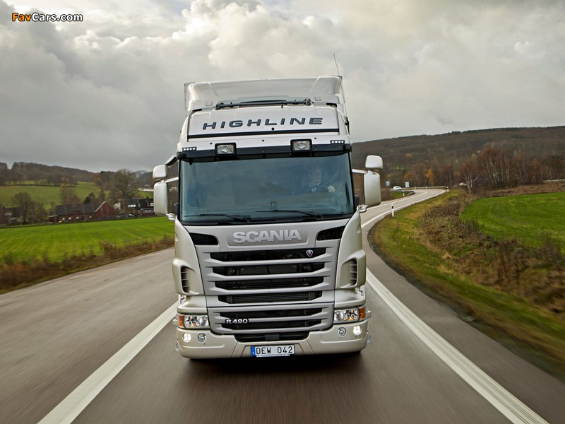 Scania R480 4x2 Highline 2009–13 wallpapers (800 x 600)