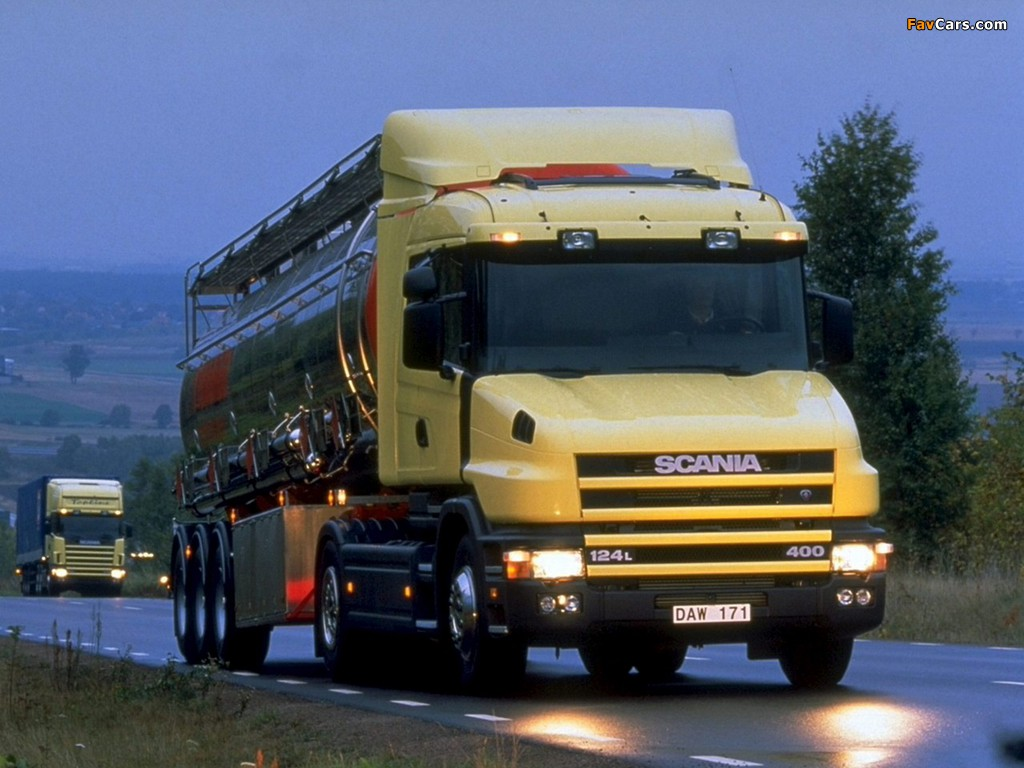 Scania T124L 400 4x2 1995–2004 wallpapers (1024 x 768)
