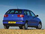 Seat Ibiza 5-door UK-spec 1999–2002 photos