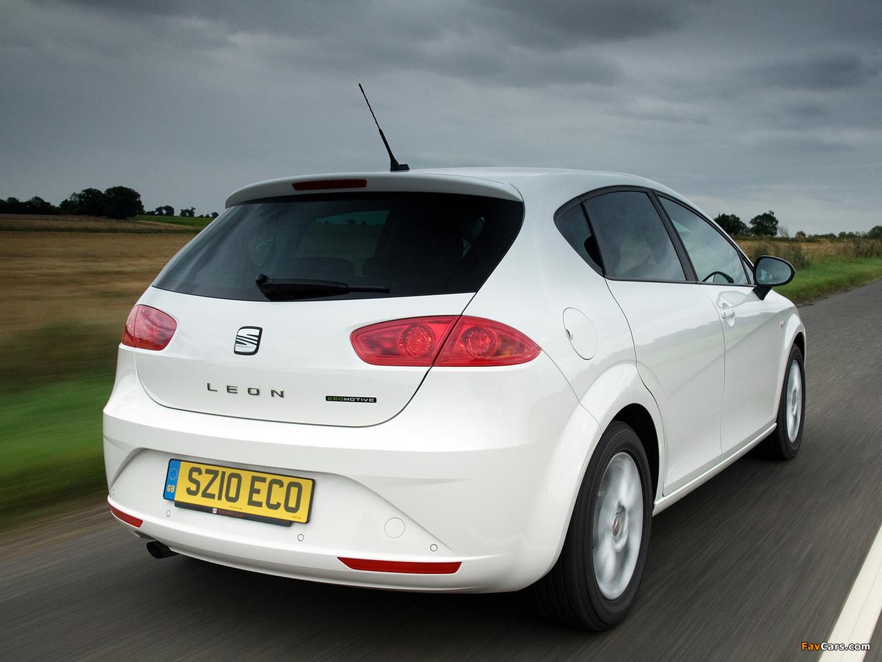 Images of Seat Leon Ecomotive UK-spec 2009–12 (1280 x 960)