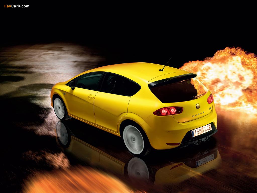Images of Seat Leon Cupra R UK-spec 2009–12 (1024 x 768)