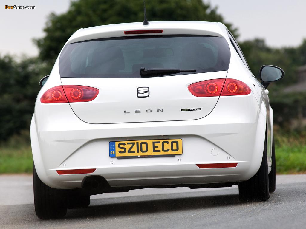 Pictures of Seat Leon Ecomotive UK-spec 2009–12 (1024 x 768)