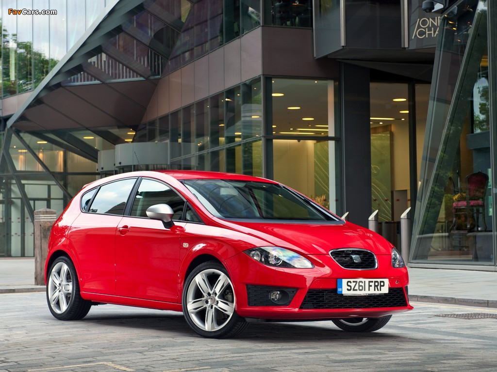 Pictures of Seat Leon FR UK-spec 2009–12 (1024 x 768)