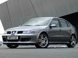 Seat Leon Cupra R UK-spec 2002–05 photos