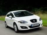 Seat Leon Ecomotive UK-spec 2009–12 wallpapers