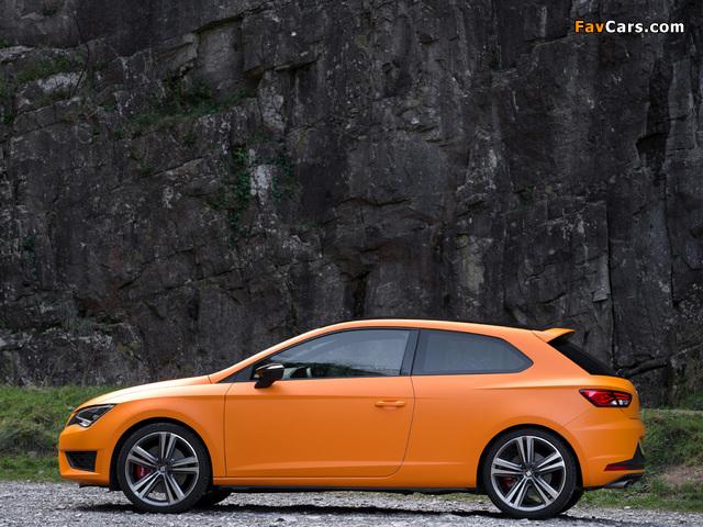 Seat Leon SC Cupra UK-spec 2014 pictures (640 x 480)