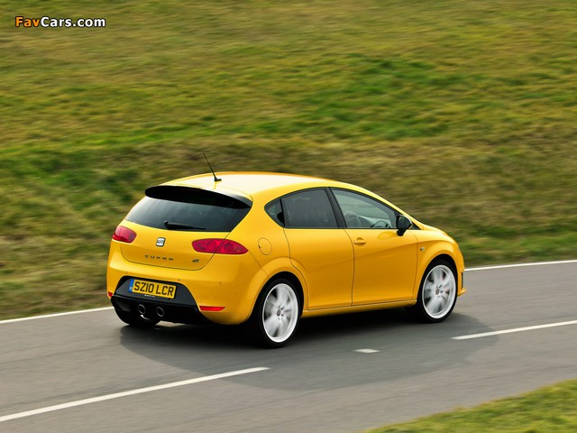 Seat Leon Cupra R UK-spec 2009–12 wallpapers (640 x 480)