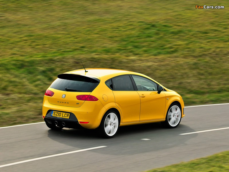 Seat Leon Cupra R UK-spec 2009–12 wallpapers (800 x 600)