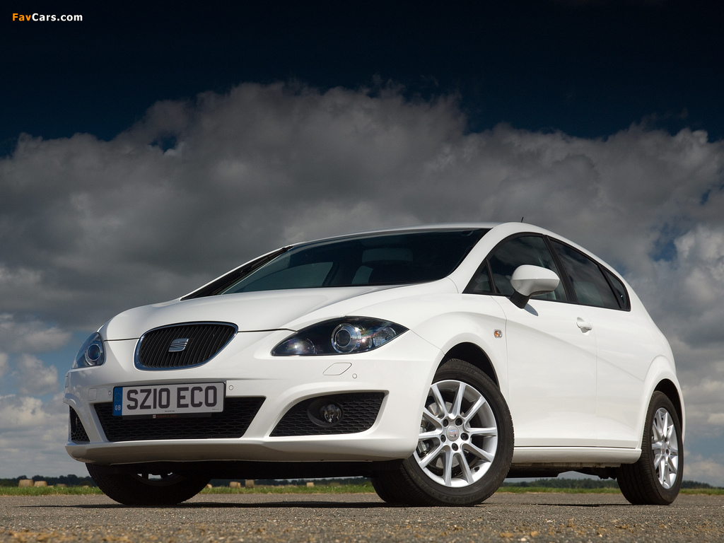 Seat Leon Ecomotive UK-spec 2009–12 wallpapers (1024 x 768)