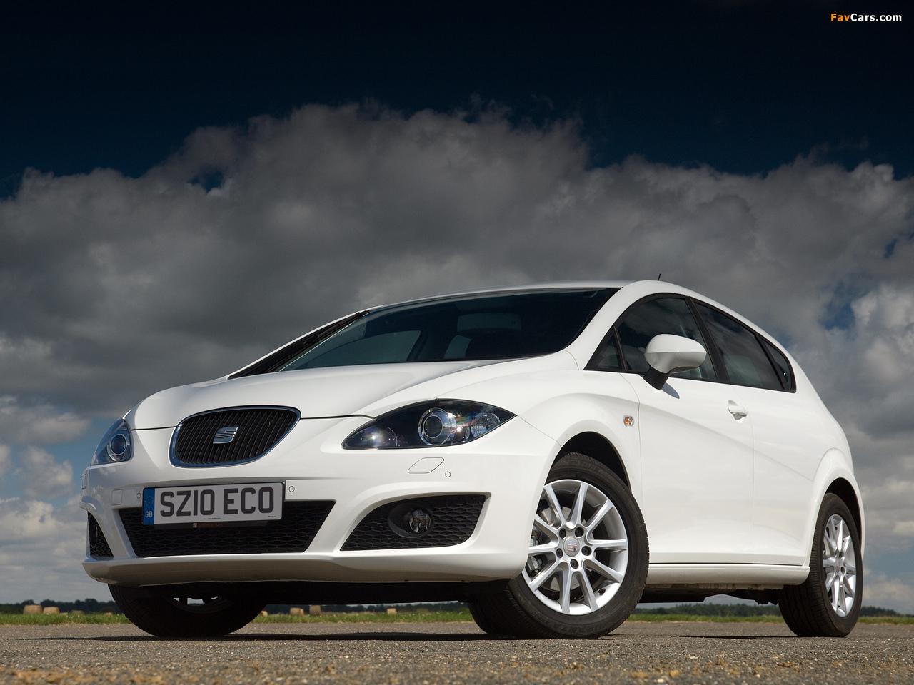 Seat Leon Ecomotive UK-spec 2009–12 wallpapers (1280 x 960)