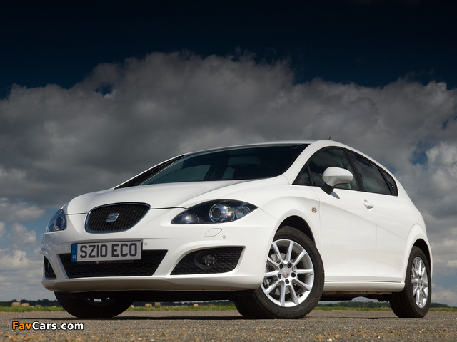 Seat Leon Ecomotive UK-spec 2009–12 wallpapers (640 x 480)