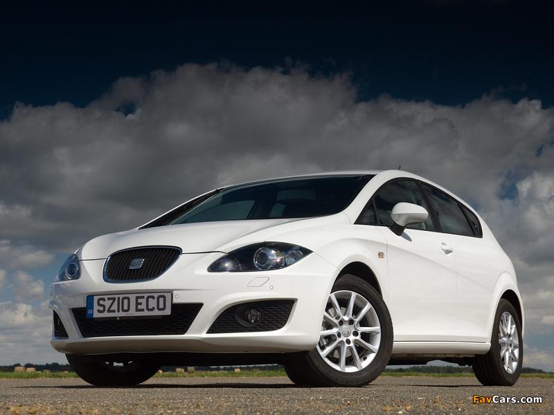 Seat Leon Ecomotive UK-spec 2009–12 wallpapers (800 x 600)