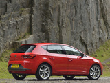 Seat Leon FR UK-spec 2013 wallpapers