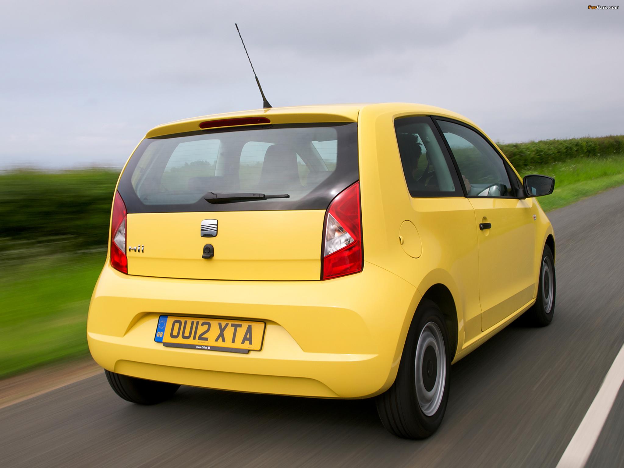 Images of Seat Mii 3-door UK-spec 2012 (2048 x 1536)