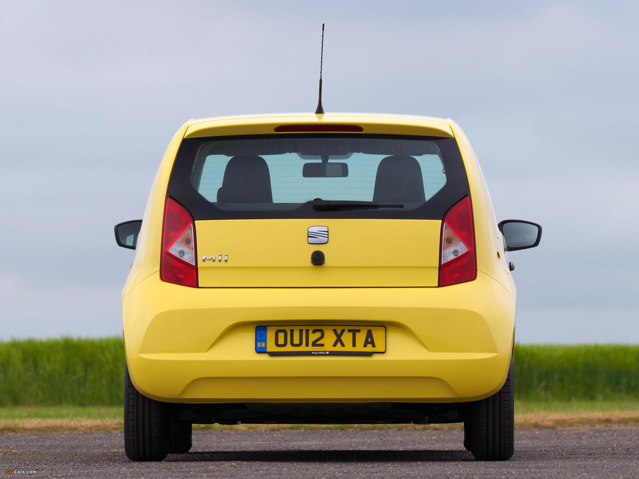 Photos of Seat Mii 3-door UK-spec 2012 (2048 x 1536)