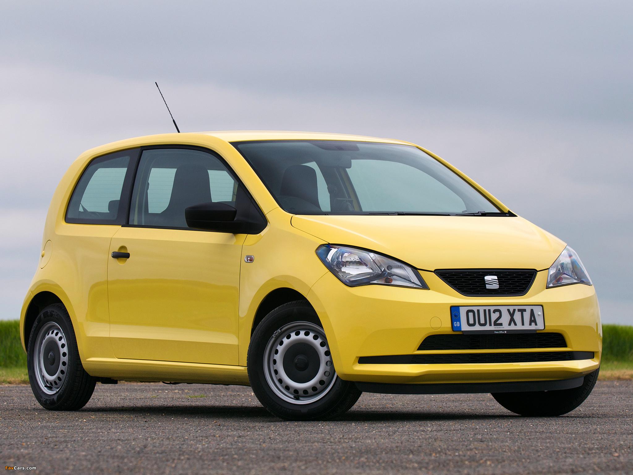 Seat Mii 3-door UK-spec 2012 images (2048 x 1536)
