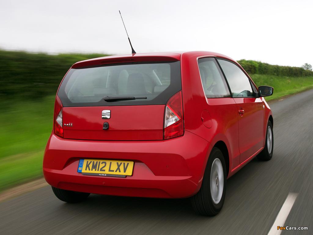 Seat Mii 3-door UK-spec 2012 pictures (1024 x 768)
