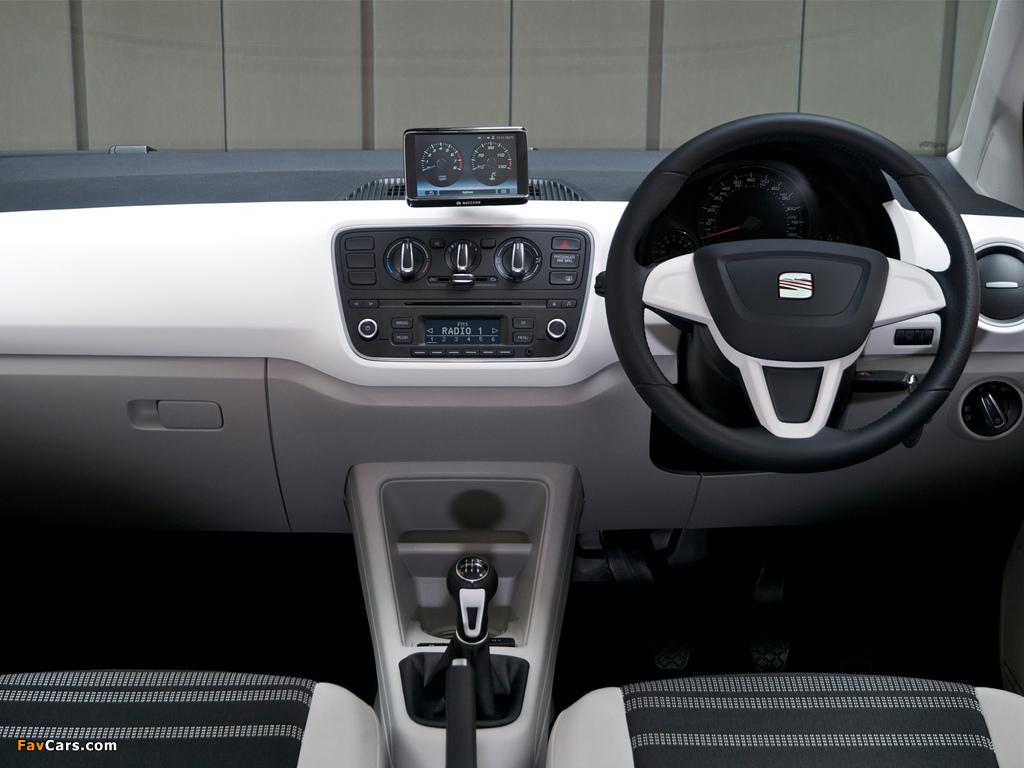 Seat Mii 3-door UK-spec 2012 wallpapers (1024 x 768)