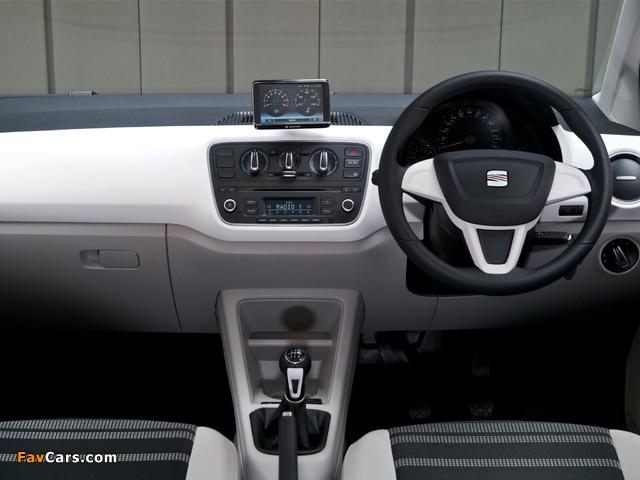 Seat Mii 3-door UK-spec 2012 wallpapers (640 x 480)