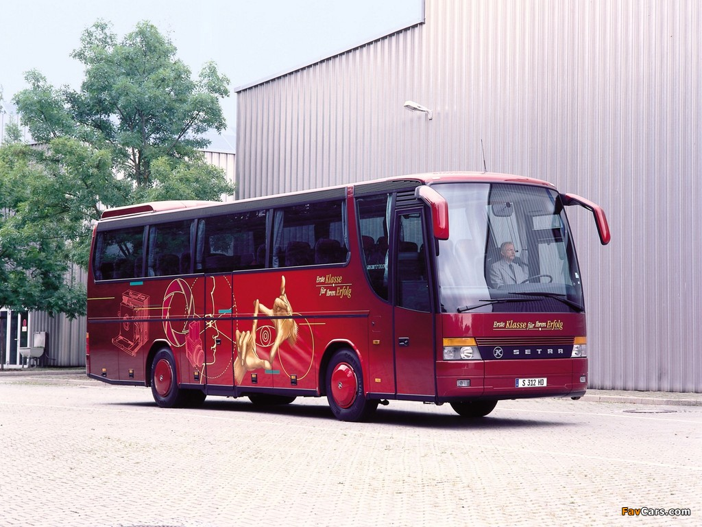 Setra S312 HD 1992–2002 wallpapers (1024 x 768)
