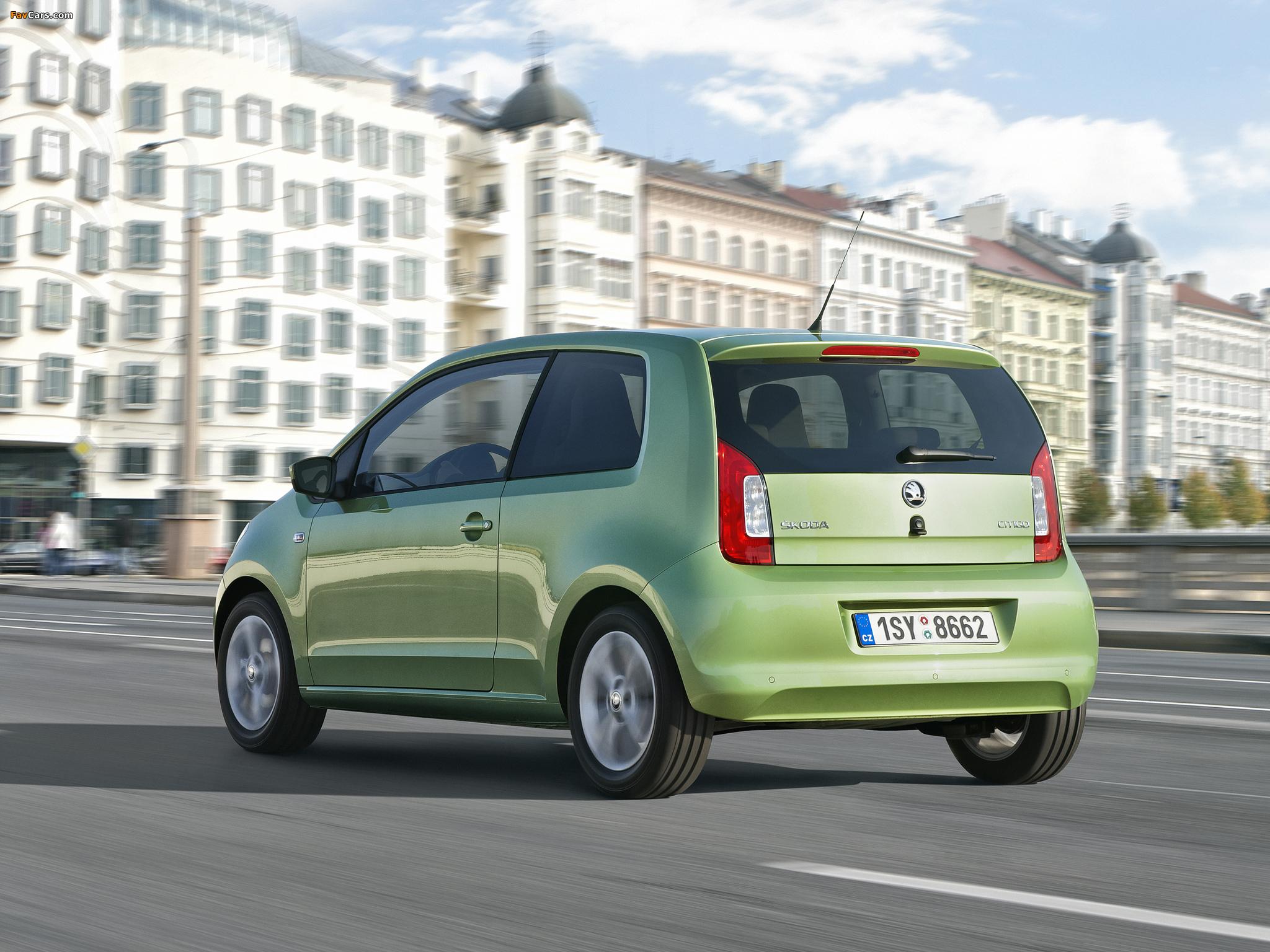 Škoda Citigo 3-door 2012 wallpapers (2048 x 1536)