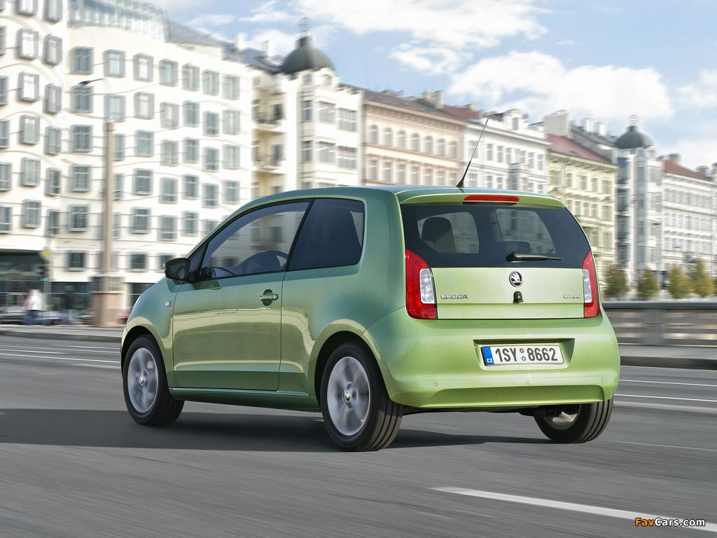 Škoda Citigo 3-door 2012 wallpapers (1024 x 768)
