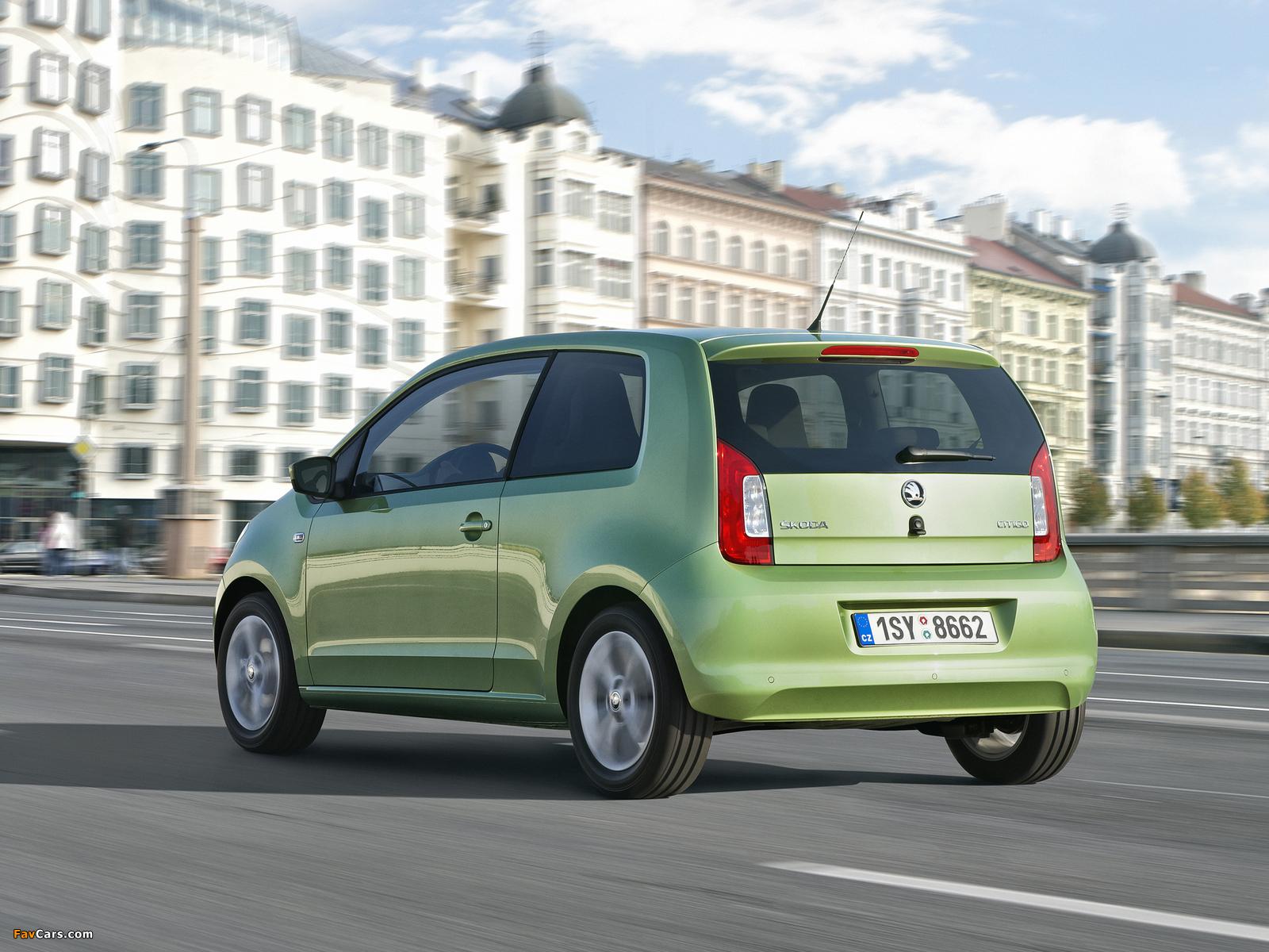 Škoda Citigo 3-door 2012 wallpapers (1600 x 1200)