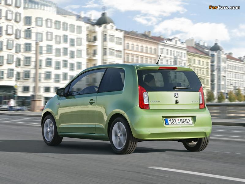 Škoda Citigo 3-door 2012 wallpapers (800 x 600)