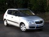 Images of Škoda Fabia UK-spec (5J) 2007–10