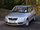 Škoda Fabia UK-spec (5J) 2007–10 pictures