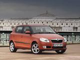 Škoda Fabia UK-spec (5J) 2007–10 wallpapers