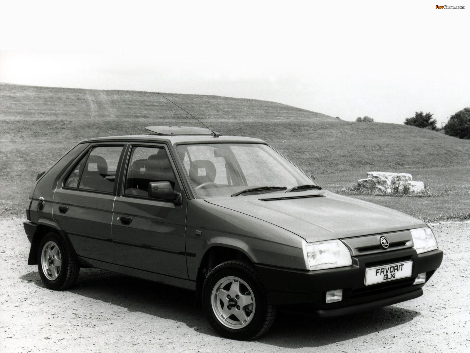 Škoda favorit ukspec type 781 1989�94 wallpapers