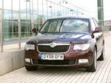 Images of Škoda Superb UK-spec 2008–13