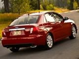 Subaru Impreza 2.5 GT Sedan US-spec (GE) 2009–11 pictures