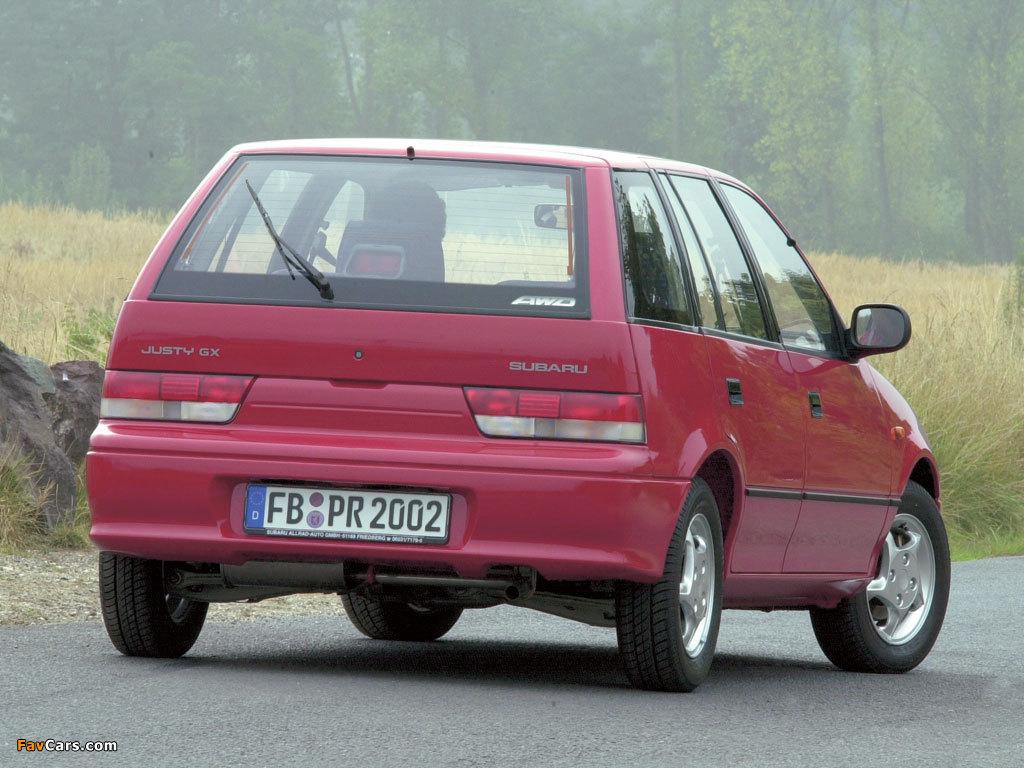 Photos of Subaru Justy 5-door 1994–2003 (1024 x 768)